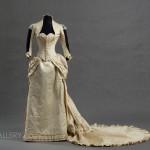 Evening dress, circa 1880